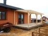 práce na terase - zhotovení sloupkové konstrukce