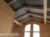 bezstropové řešení obývacího prostoru (výstavba dřevostavby na klíč - Hradec Králové, Stěžírky)