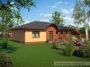 projekt dřevostavby na klíč - bungalov M02