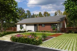 Projekt dřevostavby na klíč - bungalov Eden